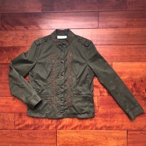 Liz Claiborne First Issue Military Jacket Size Med